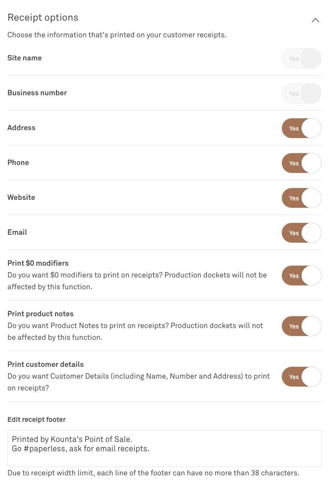 get your business details into kounta kounta support